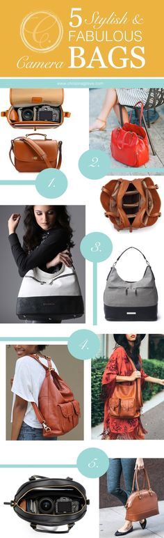 5 Stylish & Fabulous Camera Bags. By Christina Greve. http://christinagreve.com/5-stylish-fabulous-camera-bags/