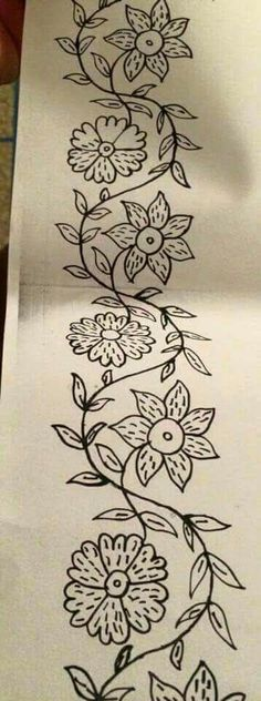 Machine Embroidery Designs at Border Embroidery Designs, Hand Embroidery Patterns, Machine Embroidery Designs, Embroidery Scissors, Ribbon Embroidery, Cross Stitch Embroidery, Mexican Embroidery, Vintage Embroidery, Fabric Painting
