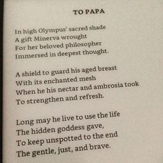 To Papa by Louisa May Alcott #onepoemaday #LMABibliography