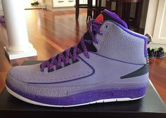Air Jordan 2 - Purple / Grey - Crimson | KicksOnFire.com