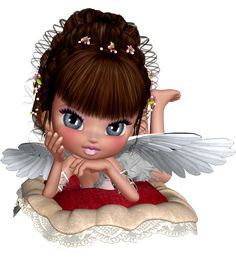 """^i^  Cute 3D Angel ^i^ Night-time Blessing : """"May your dreams be filled with Angels while you sleep the night away, bringing peace and love and guidance which will help you through each day."""""""