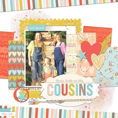Digital layout by designer Tya Smith featuring Echo Park's Girl Cousins collection, available at Snap Click Supply here: http://www.snapclicksupply.com/girl-cousins-full-collection/ #digitalscrapbooking