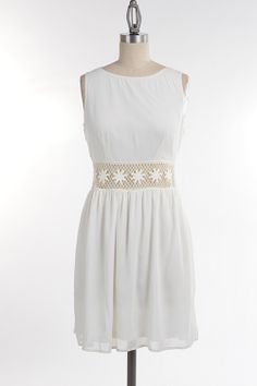 Crochet Band Dress #swoonboutique