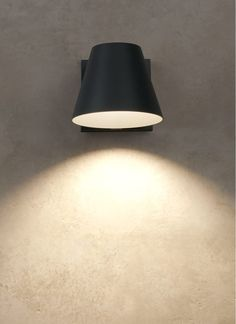 Bowman Outdoor Wall Sconce designed by TL Studio. by by Charcoal, silver, white, black, or bronze. Outdoor Wall Sconce, Outdoor Wall Lighting, Cool Lighting, Outdoor Ceiling Fans, Outdoor Walls, Luminaire Applique, External Lighting, Circa Lighting, Modern Wall Sconces