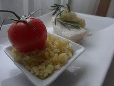 Czary w kuchni- prosto, smacznie, spektakularnie.: Dorsz z gałązkami rozmarynu, kalaforem i pieczonym... Risotto, Grains, Rice, Vegetables, Ethnic Recipes, Food, Veggies, Essen, Veggie Food