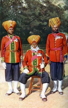 Detail of Officers of the 15th Ludhiana Sikks, Indian army, India by Bourne & Shepherd
