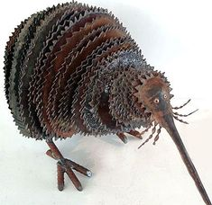 corrugated iron animal sculpture   ........