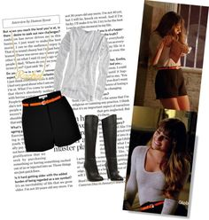 """Rachel Berry Style in New York n.10"" by miky94 ❤ liked on Polyvore"