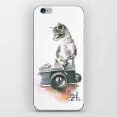Skins are thin, easy-to-remove, vinyl decals for customizing your device. Skins are made from a patented material that eliminates air bubbles and wrinkles for easy application. Iphone Skins, Kittens Cutest, Vinyl Decals, Bubbles, My Arts, Watercolor, Cat, Store, Cover