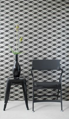 scandinavian wallpaper for the win. Makes my vision blurry.