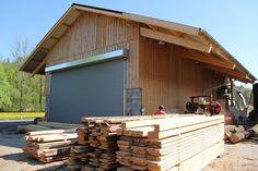 Kundensägerei. Für die Scheune wurden total 30 m3 Bauholz verbaut.
