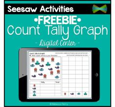 *FREEBIE* - Seesaw Activities - Count Tally Graph - Data - Digital Resources - Paperless Classroom - Math