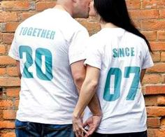 Together Since His And Hers Shirts
