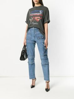 07b6333a0fb Balenciaga Oversized Paris Printed T-shirt $450 - Buy Online - Mobile  Friendly, Fast