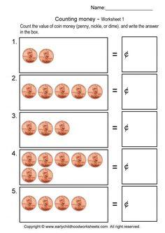 new 511 counting nickels worksheet for kindergarten counting worksheet. Black Bedroom Furniture Sets. Home Design Ideas