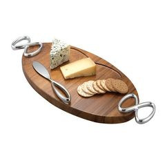Nambe MT0518 Infinity Cheese Board with Knife