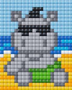 #pixelhobby #pixelen #pixelgift #hobbyproduct #knutselen #creatief #pixels #nijlpaard #hippo