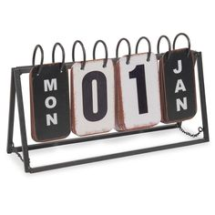 GRAPHIK TRIBU decorative metal calendar 16 x 27 cm