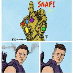Thanos turned hawkeye into mohawkeye marvel cinematic universe, marvel jokes, avengers memes, marvel Marvel Dc Comics, Marvel Avengers, Captain Marvel, Marvel Heroes, Hawkeye Marvel, Thanos Marvel, Hawkeye Comic, Hulk Comic, Hilarious Memes