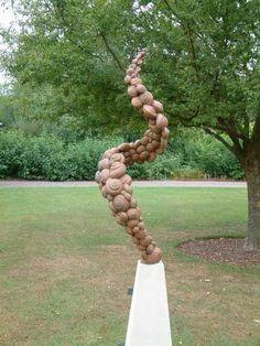 sculpture molluscularbronze by sculptor jonathan hateley in abstract garden sculptures garden