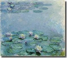 """Monet, Water Lilies  """"Who hasn't stood mesmerized before a Picasso portrait, a Cezanne still life or a rapturous seascape by Claude Monet or Winslow Homer? Now, museums across the country are reaching out to people with Alzheimer's in order to bring the soothing power of art into the minds of those tackling dementia."""" Source: Museum of Modern Art  I included 12 Modern Masters in my Interactive Art line for Alzheimer's/Dementia patients. www.wix.com/mbedesign1/interactive-art. Contact…"""