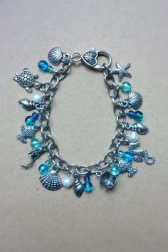 Ocean Treasures charm bracelet with freshwater by GoblinMoonUK, £22.50