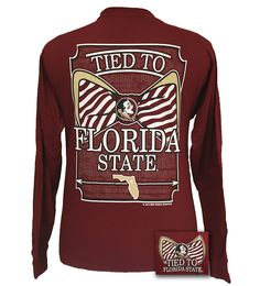 FSU Florida State Seminoles Tied To Big Bow Long Sleeve T-Shirt