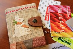 Sweet patchwork card case by Sakae Yoshihara