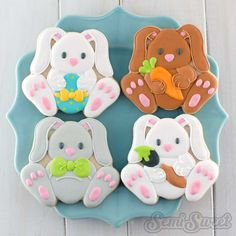 Easter Bunny Cookies by Semi Sweet Designs