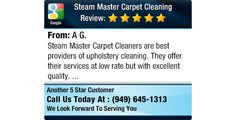 Steam Master Carpet Cleaners are best providers of upholstery cleaning. They offer their...