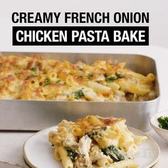 Baked Chicken Pasta Recipes, Chicken Pasta Bake, Easy Pasta Recipes, Cooking Recipes, Chicken And Egg Noodles, Dinner Ideas, Dinner Recipes, French Onion Chicken, Onion Soup