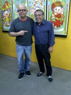 Marcelo Tas e Mauricio de Sousa