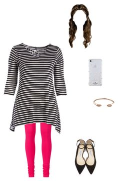 """""""16 months💕"""" by modest-flute ❤ liked on Polyvore featuring Kate Spade, Kendra Scott, Jimmy Choo, proudlytaken and plus size clothing"""