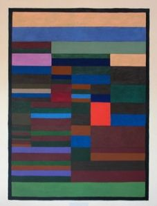"""Paul Klee....This reminds me of the final I did in my Josef Albers class on the """"Interaction of Color""""!  Quite a challenge to do...but loved the outcome!"""