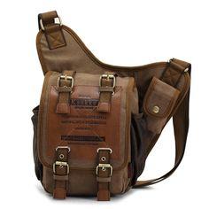 Men Retro Canvas Travel Shoulder Bags Messenger Bag