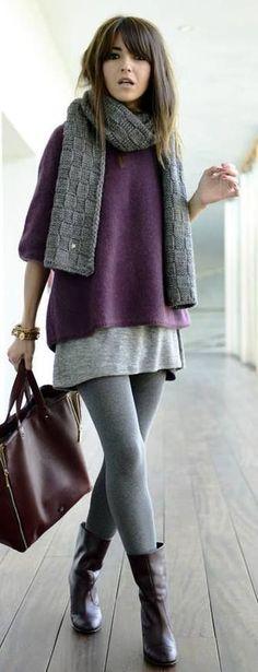 Trendfarbe Purple als Basicteil? Das geht. Einfach einen schlichten Pullover nähen