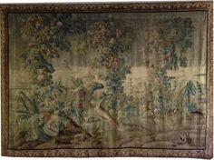 Tapisserie d'Aubusson à décor d'inspiration exotique. Début du