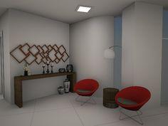 Sala de Espera  Condomínio Residencial  Fortaleza -Ce Projeto Auri Deusdará Interiores