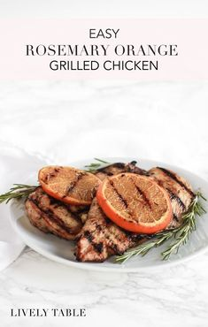 Easy rosemary orange grilled chicken is a simple, healthy, and flavorful solution for weeknight dinners. You're only 8 ingredients away from having a healthy chicken dinner on the table! Best Chicken Recipes, Best Dinner Recipes, Real Food Recipes, Amazing Recipes, Delicious Recipes, Healthy Gluten Free Recipes, Healthy Food, Photo Food, Weeknight Dinners