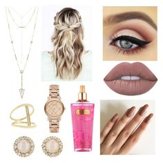 """Untitled #20"" by chelsea-dyer on Polyvore featuring beauty, Lime Crime, Victoria's Secret, Burberry, Kate Spade, House of Harlow 1960 and Sydney Evan"