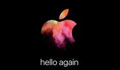Apple práve novinárom rozposlal pozvánky na svoj októbrový event, o ktorom sa v uplynulých dňoch hovorilo.   https://www.macblog.sk/2016/hello-again-apple-rozposlal-pozvanky-mac-event-konajuci-sa-27-oktobra/