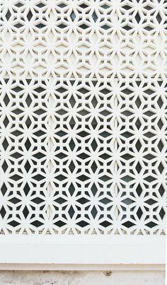 Lattice screen outside Fab India, Jaipur. Photo: Heather Moore