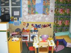 Home Corner role-play area classroom display photo - Photo gallery - SparkleBox Dramatic Play Themes, Dramatic Play Centers, Play Corner, Corner House, Home Corner Ideas Early Years, Reading Corner Classroom, Reception Class, Role Play Areas, Classroom Displays