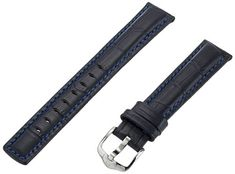 Hirsch 025280-80-18 18 -mm  Genuine Calfskin Watch Strap -- You can get additional details at the image link.