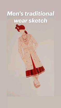 Illustration Fashion, Fashion Illustrations, Fashion Sketches, Mens Traditional Wear, Indian Drawing, Wedding Drawing, Sketch Design, Illustrators, Brides