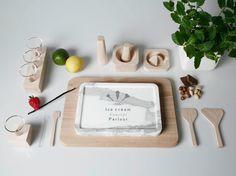 Ice Cream Concept Parlou Ploenpit Nitta hacer helados de forma casera tradicional kit verano sant martins london design wood madera marmol c...