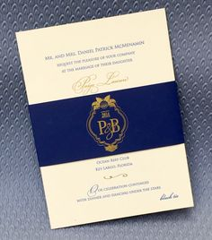 Custom designed wedding invitation with custom monogram by More Than Words Pittsburgh #wedding #invitation #foil #monogram