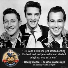 60 Year's of Rock 'n' Roll Artists May 5, 2014 Scotty Moore and Bill Black, The Blue Moon Boys