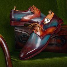 Paul Parkman Men's Multi-color Medallion Toe Derby Shoes (ID Best Shoes For Men, Formal Shoes For Men, Oxfords Vs Brogues, Suede Shoes, Shoe Boots, Men's Wedding Shoes, Gentleman Shoes, Derby Shoes, Luxury Shoes