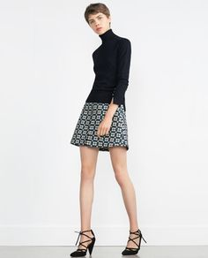 Image 1 of JACQUARD SKIRT from Zara